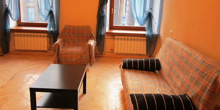 2-bedroom Sankt-Peterburg Tsentralnyy rayon with kitchen for 6 persons
