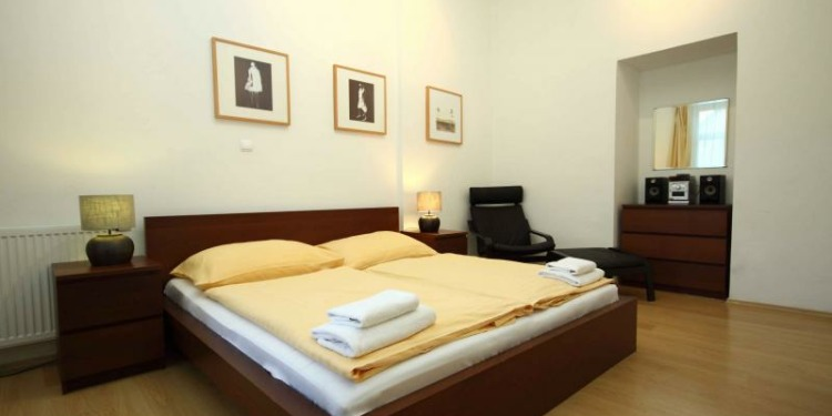 1-bedroom Apartment Praha New Town with kitchen for 5 persons