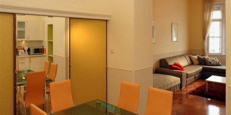 2-ložnicové Apartmá v Budapešti Belváros s kuchyní pro 10 osob