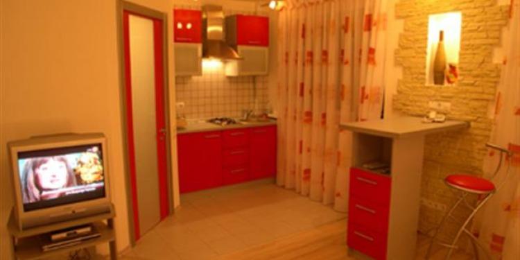 Studio Apartmá v Kyjev Shevchenkivs'kyi district with-balcony a s kuchyní