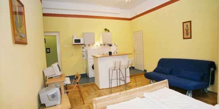 Studio Apartmá v Budapešti Belváros s kuchyní a s internetem