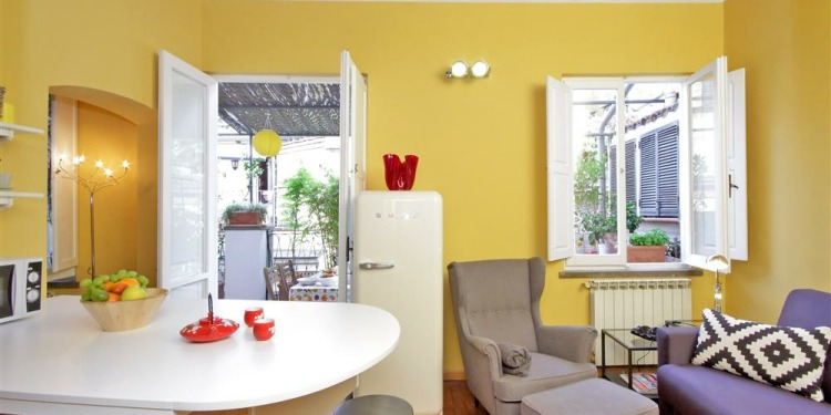 1-bedroom Roma Monti with kitchen for 4 persons